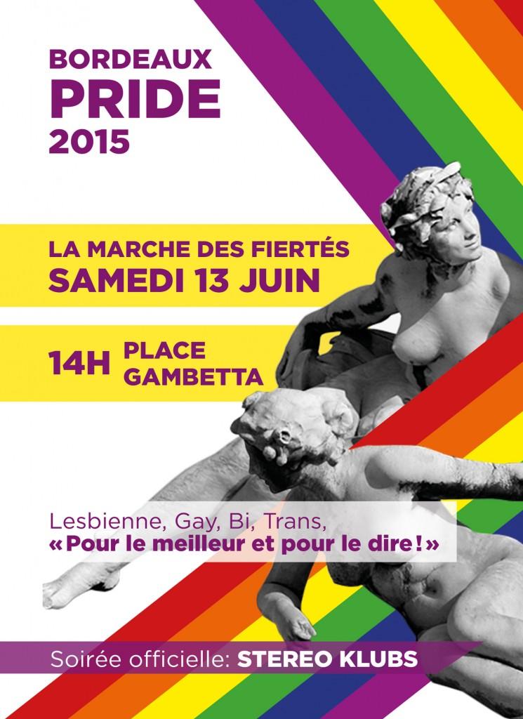 Affiche de la Gay Pride de Bordeaux 2015