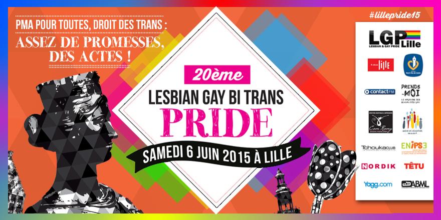 Affiche de la Gay Pride de Lille 2015