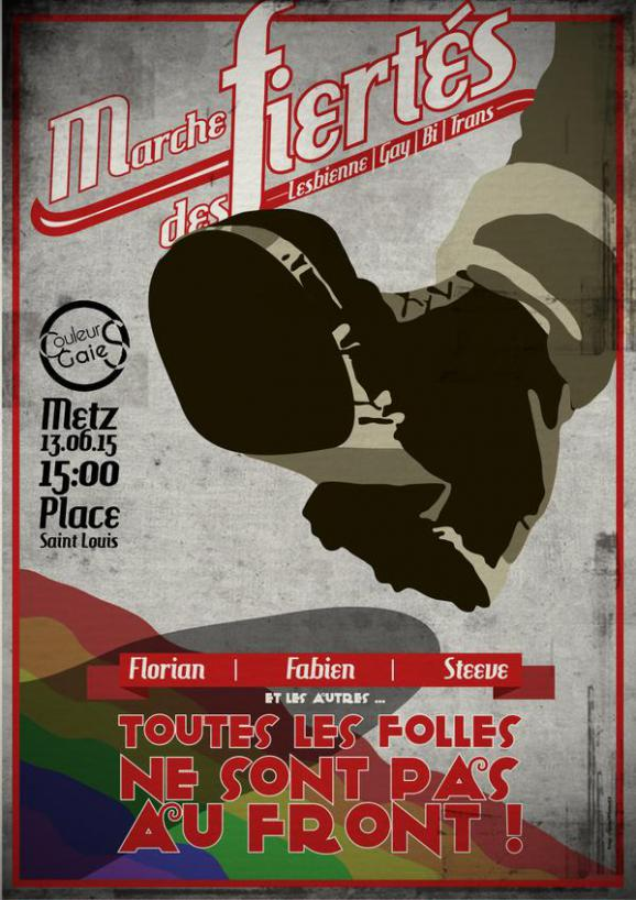 L'affiche de la Gay Pride de Metz 2015