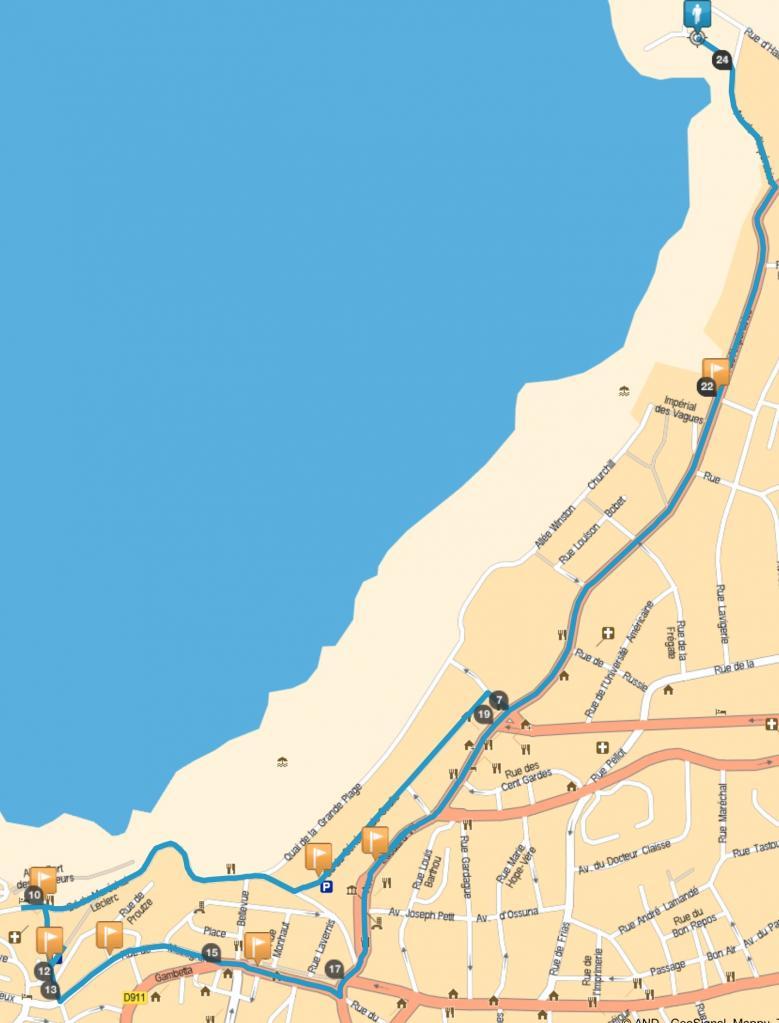 Parcours de la Gay Pride de Biarritz 2015