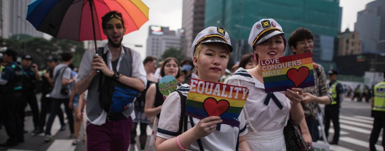 5000 personnes à la gay pride de Séoul