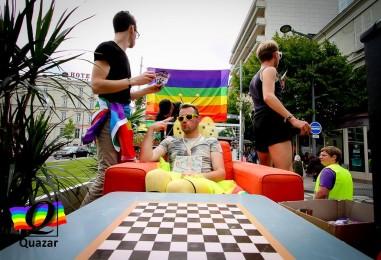 Parcours de la Gay Pride d'Angers 2018