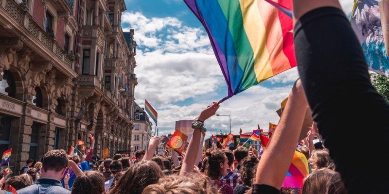 La marche de la gay pride de Madrid